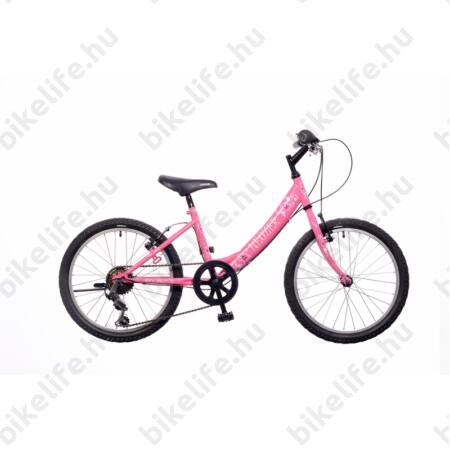 """Neuzer Cindy 20""""-os gyerekkerékpár, lányka, kontrás, pink virágminta"""
