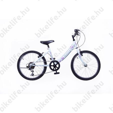 """Neuzer Cindy 20"""" lányka gyermek kerékpár, 6 fokozatú váltórendszer, babyblue"""