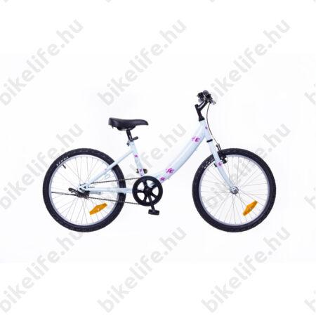 """Neuzer Cindy 20""""-os gyerek kerékpár, lányka, kontrás, babyblue/pink, virágmintás"""