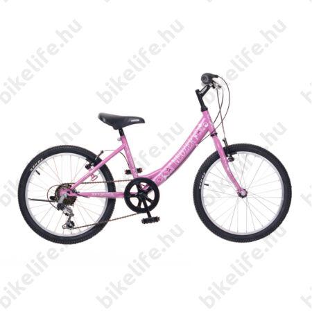 """Neuzer Cindy 20"""" lányka gyermek kerékpár, 6 fokozatú váltórendszer, pink"""