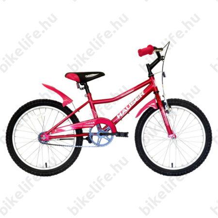 """Hauser Puma 20""""-os gyerekkerékpár, kontrás, sötét pink"""