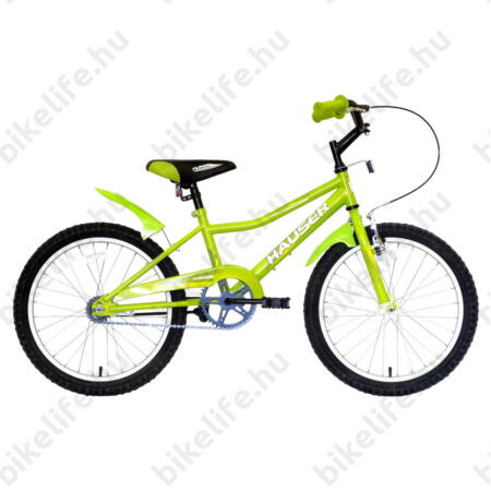 """Hauser Puma 20""""-os gyerekkerékpár, kontrás, zöld"""
