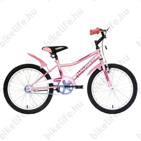 """Hauser Puma 20""""-os gyerekkerékpár, kontrás, világos pink"""