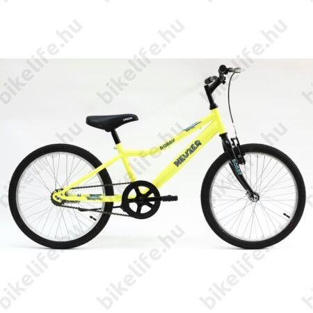 """Neuzer Bobby 20""""-os gyerek kerékpár, fiú, 6 sebességes Shimano váltó, fehér/narancs-kék matrica"""