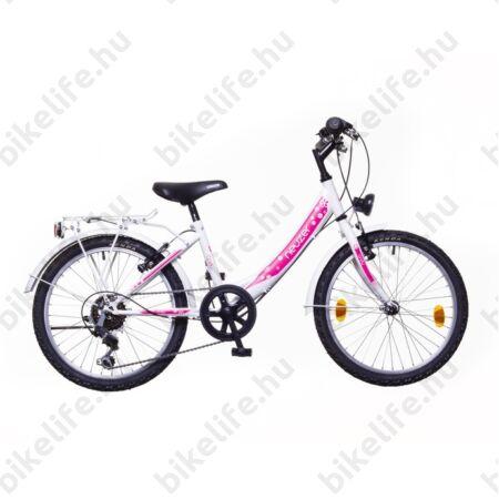 """Neuzer Cindy City 20""""-os gyerekkerékpár, 6 sebességes, lányka, babakék új dizájn"""