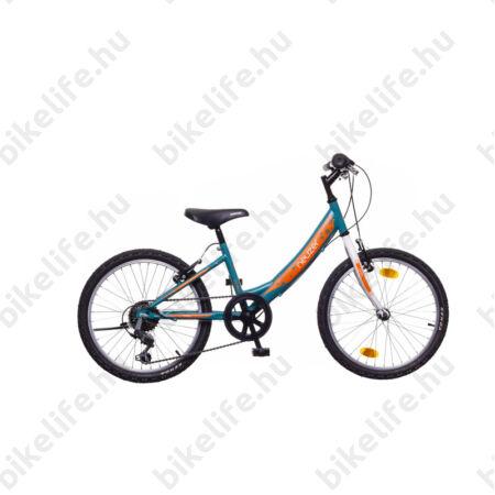 """Neuzer Cindy 20"""" lányka gyermek kerékpár, 6 fokozatú váltórendszer, türkiz-fehér"""