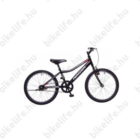 """Neuzer Bobby 20""""-os gyerek kerékpár, fiú, 6 sebességes Shimano váltó, fekete/szürke-piros matrica"""