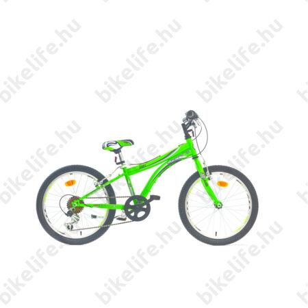 "Caprine Kids 20""-os gyerekkerékpár unisex váz, Shimano Revoshift váltórendszer, zöld/fekete"