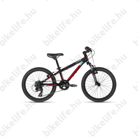 """Kellys Lumi 50 Black 20""""-os gyerekkerékpár alumínium váz, teleszkóp, 7fok Shimano TY300 váltó"""