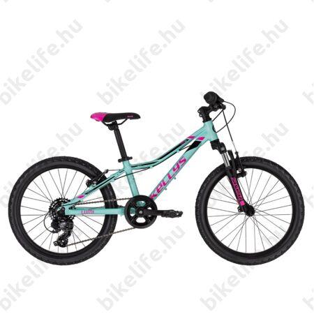 """Kellys Lumi 50 20""""-os gyerekkerékpár aluminium váz,Suntour teleszkóp, 6 fokozatú váltó, V-fék, lime"""