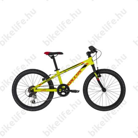 """Kellys Lumi 30 Neon Yellow 20""""os gyerekkerékpár aluminium váz, 6 fokozatú Shimano TY21 váltó, V-fék,"""