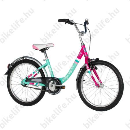 """Kellys Cindy gyerekkerékpár 20""""-os, alumínium monováz, city felszerelés, kontra fék, rózsaszín-pink"""