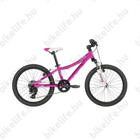 """Kellys Lumi 50 2019 20""""-os gyerekkerékpár alu váz,Suntour teleszkóp, 7 fokozatú váltó, V-fék, pink"""