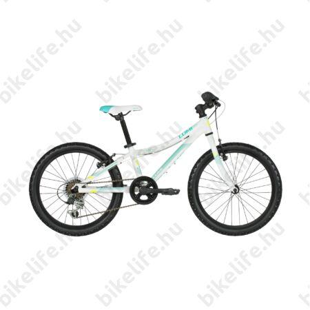 """Kellys Lumi 30 White 20""""-os gyerekkerékpár alumínium váz, 6 fokozatú váltó, V-fék"""