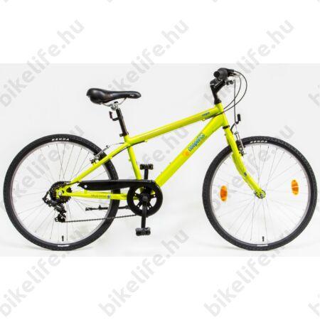 """Csepel Mustang 24""""-os gyerek kerékpár, fiú, 6 seb. Shimano váltó, zöld"""