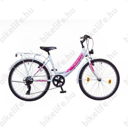 """Neuzer Cindy City 24""""-os gyerek kerékpár, lány, 6 seb. Shimano váltó, babyblue"""