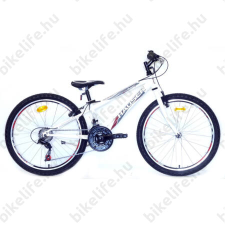 """Hauser Wolf 24""""-os gyerekkerékpár, fiú, Shimano Revoshift váltórendszer, fehér"""