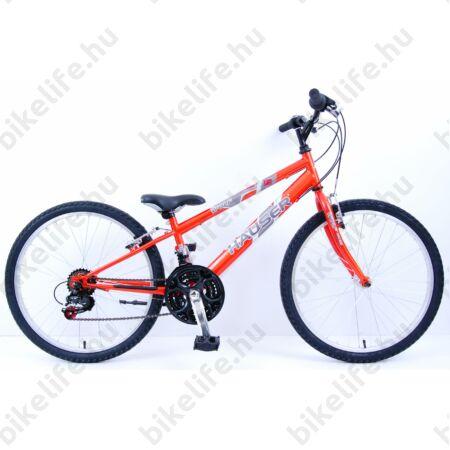 """Hauser Wolf 24""""-os gyerekkerékpár, fiú, Shimano Revoshift váltórendszer, narancs"""
