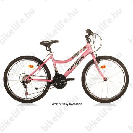 """Hauser Wolf 24""""-os gyerekkerékpár, lányka, Shimano Revoshift váltórendszer, rózsaszín"""