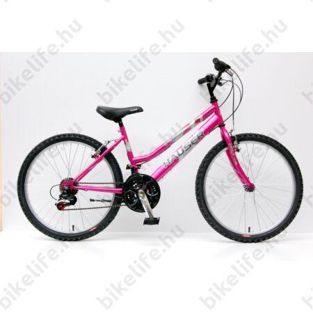 """Hauser Wolf 24""""-os gyerekkerékpár, lányka, Shimano Revoshift váltórendszer, pink"""