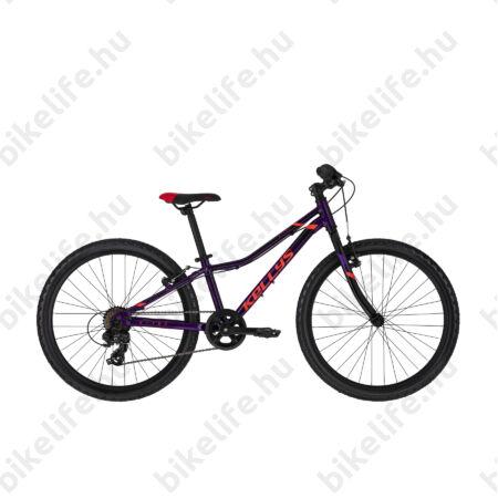 """Kellys Kiter 30 Purple 24""""-os gyerekkerékpár 7 fok. Shimano TY300 váltó, aluminium váz, V-fék,"""