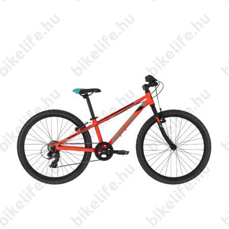 """Kellys Kiter 30 Neon Orange 24""""-os gyerekkerékpár 7 fok. Shimano TY300 váltó, aluminium váz, V-fék,"""
