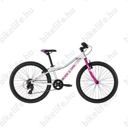 """Kellys Kiter 30 White 24""""-os gyerekkerékpár 7 fok. Shimano TY300 váltó, aluminium váz, V-fék,"""