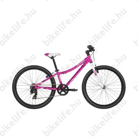 """Kellys Kiter 30 Pink 24""""-os gyerekkerékpár 7 fokozatú Shimano TZ50 váltó, aluminium váz, V-fék"""