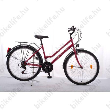 """Schwinn ATB BOSS 24""""-os gyerekkerékpár, lányka, 18 sebességes váltó, piros"""