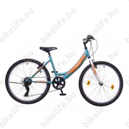 """Neuzer Cindy 24""""-os gyerek kerékpár, lány, 6 seb. Shimano váltó, rózsaszín/rózsaszín matrica"""