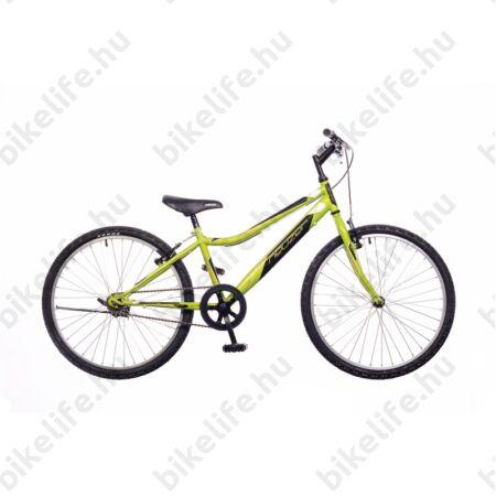 """Neuzer Bobby 24""""-os gyerek kerékpár, fiú, racsnis, 1 seb., neonzöld/fekete-fehér"""