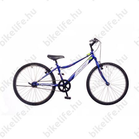 """Neuzer Bobby 24""""-os gyerek kerékpár, fiú, racsnis, 1 seb., királykék/fehér-zöld"""