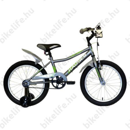 """Hauser Puma 18""""-os gyerekkerékpár, kontrás, matt szürke"""