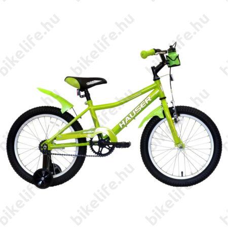 """Hauser Puma 18""""-os gyerekkerékpár, kontrás, zöld"""