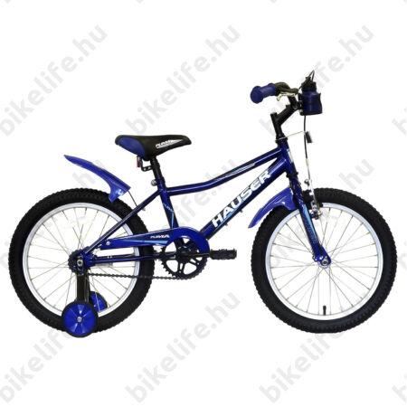 """Hauser Puma 18""""-os gyerekkerékpár, kontrás, sötétkék"""