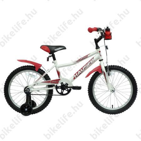 bc21a94d0809 Hauser Puma 18-os gyerekkerékpár, kontrás, fehér - 18