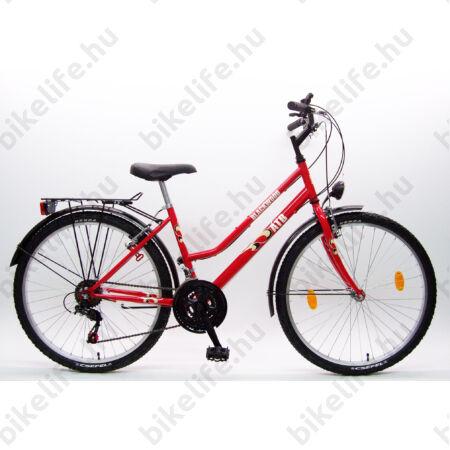 """Csepel Blackwood city 26""""-os MTB kerékpár női  16"""" piros"""