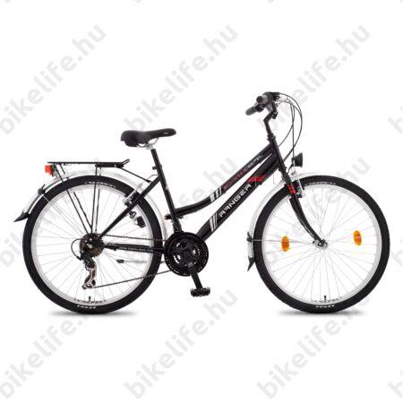 """Csepel Ranger női MTB kerékpár city felszereltség, 21sebességes váltó, fekete, 17"""""""