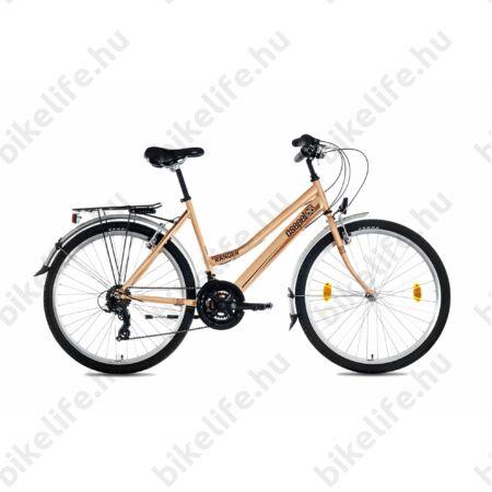 """Csepel Ranger női MTB kerékpár city felszereltség, 21sebességes váltó, púder, 17"""""""