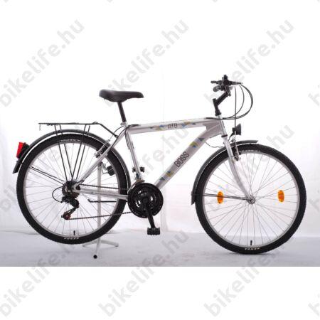 """Csepel Boss city 26""""-os MTB kerékpár férfi  18"""" ezüst"""