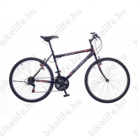 """Neuzer Nelson férfi MTB kerékpár 18sebességes, fekete/piros 17"""""""