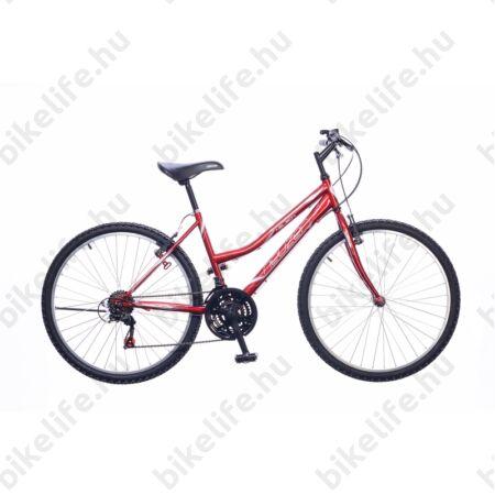 """Neuzer Nelson női MTB kerékpár 18sebességes, bordó/fehér-szürke 19"""""""