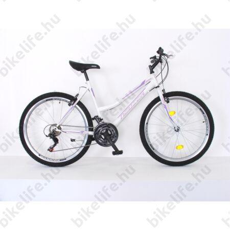 """Neuzer Nelson női MTB kerékpár 18sebességes, fehér/lila/rózsaszín 19"""""""