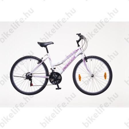 """Neuzer Nelson női MTB kerékpár 18sebességes, fehér/bíbor-mályva 19"""""""
