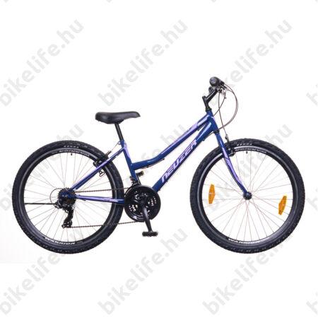 """Neuzer Nelson 30 női MTB kerékpár 21 sebességes, duplafalú kerekek, kék/fehér-mályva 17"""""""