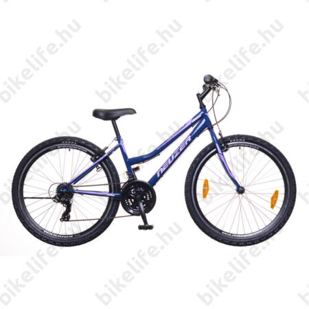 """Neuzer Nelson 30 női MTB kerékpár 21sebességes, duplafalú kerekek, kék/lila 19"""""""