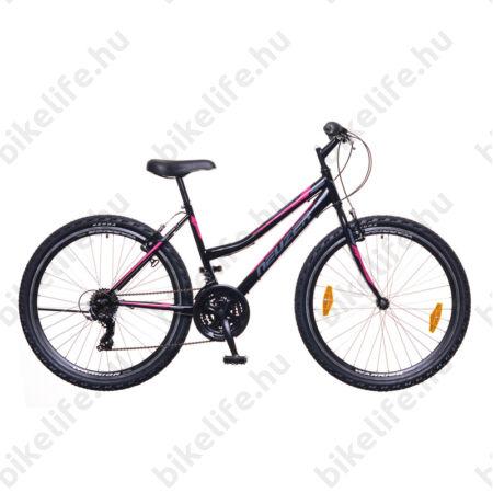 """Neuzer Nelson 30 női MTB kerékpár 18 fokozatú, duplafalú kerekek, fekete/szürke-pink 19"""""""