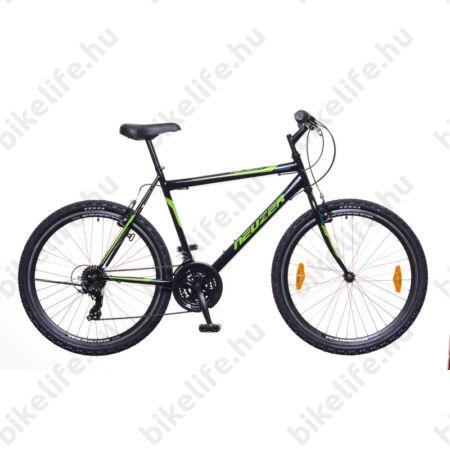"""Neuzer Nelson 30 férfi MTB kerékpár 18 sebességes, duplafalú kerekek, fekete-neonzöld 17"""""""