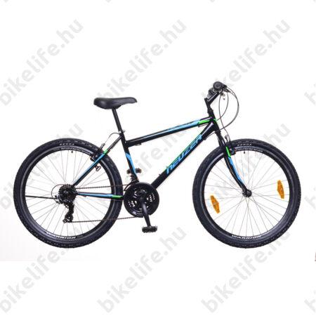 """Neuzer Nelson 30 férfi MTB kerékpár 18 fokozatú, duplafalú kerekek, fekete/türkiz-neon zöld 19"""""""