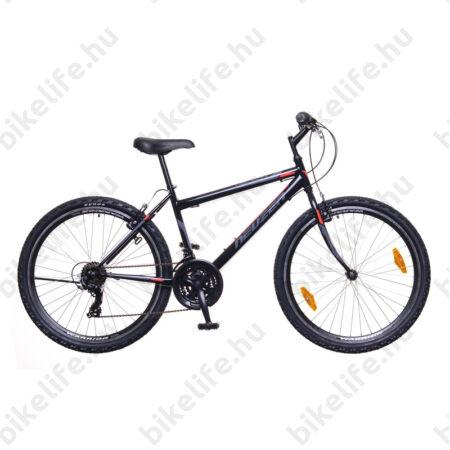"Neuzer Nelson 30 férfi MTB kerékpár 18 fokozatú, duplafalú kerekek, fekete/szürke-piros zöld 19"""